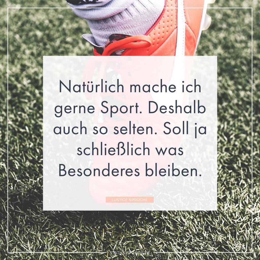 Naturlich Mache Ich Gerne Sport Deshalb Auch So Selten Soll Ja