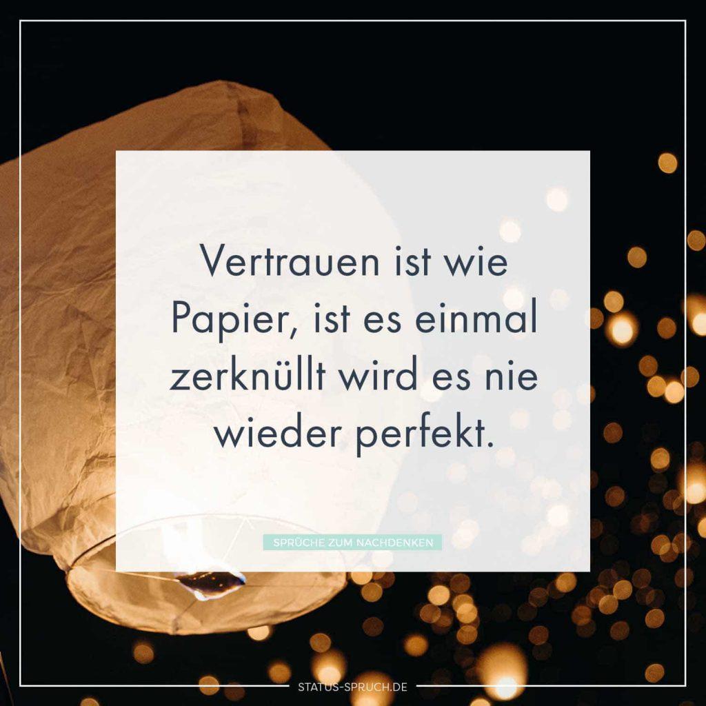 Vertrauen Ist Wie Papier Ist Es Einmal Zerknüllt Wird Es Nie Wieder