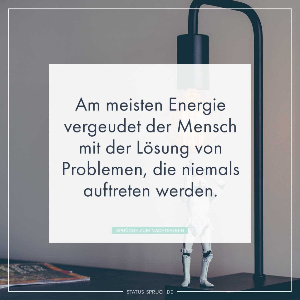 Am Meisten Energie Vergeudet Der Mensch Mit Der Lösung Von