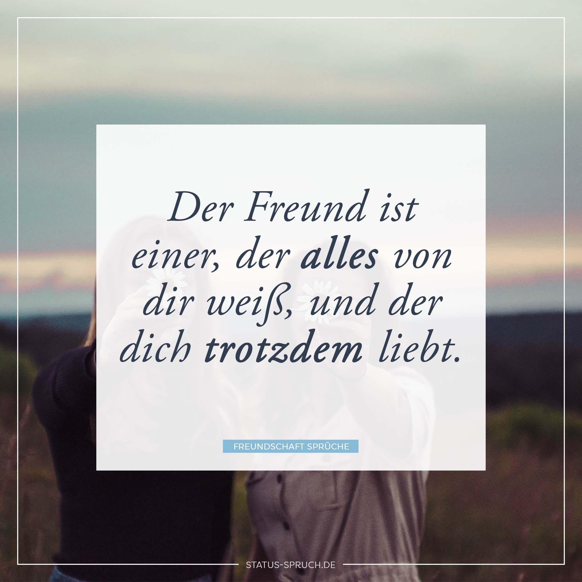 Der Freund Ist Einer Der Alles Von Dir Weiß Und Der Dich Trotzdem