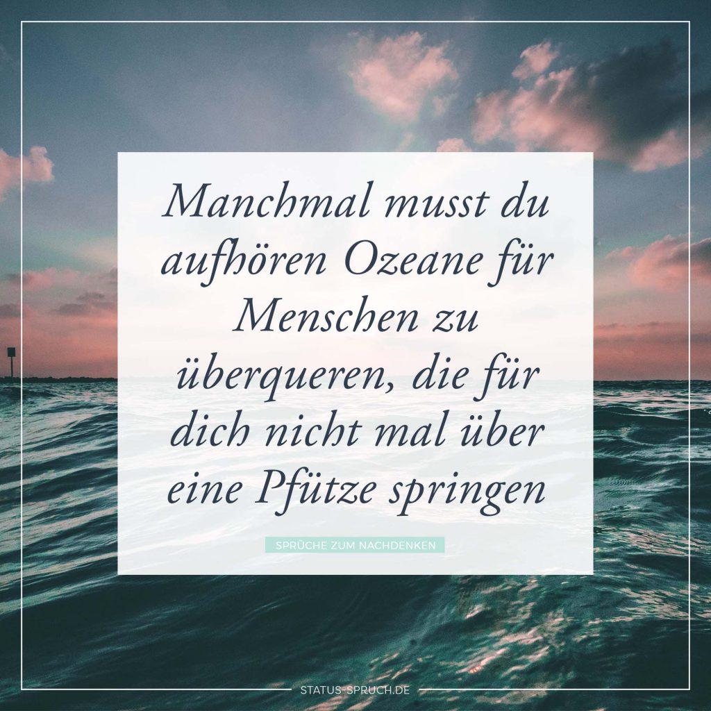 Manchmal musst du aufhören Ozeane für Menschen zu ...