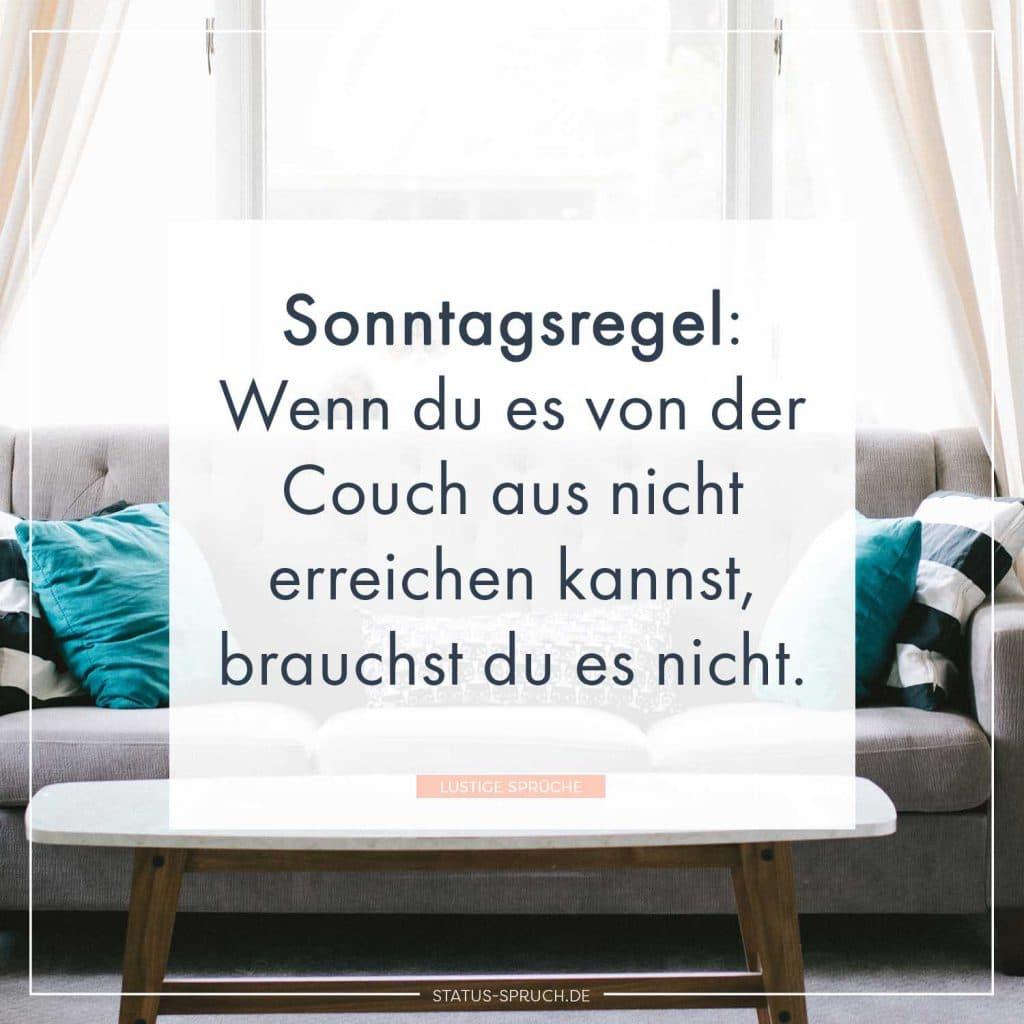Sonntagsregel Wenn Du Es Von Der Couch Aus Nicht Erreichen Kannst