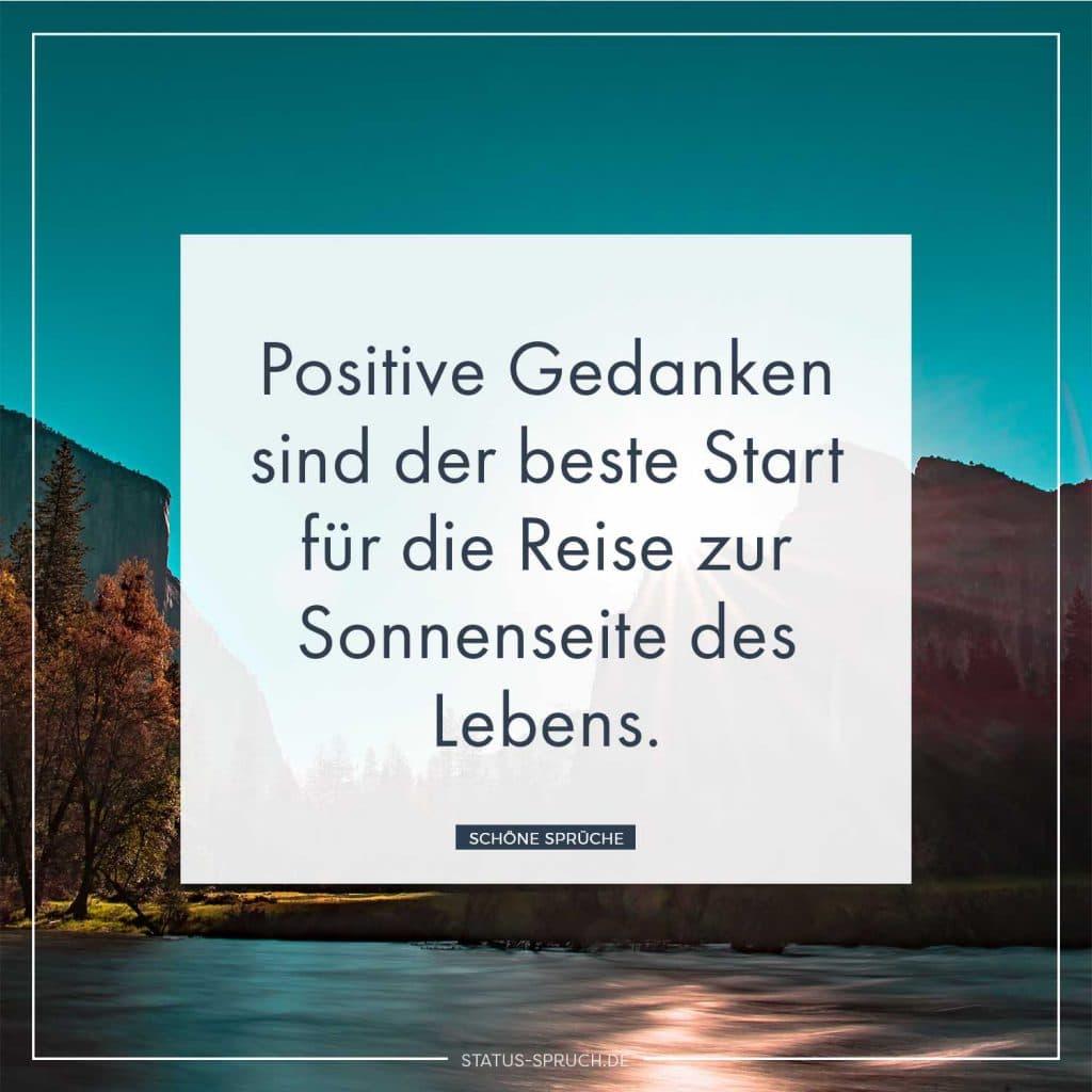 Positive Gedanken sind der beste Start für die Reise zur